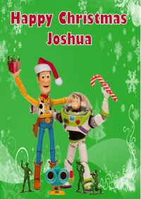 Personalised Woody & Buzz Toy Story Christmas Card